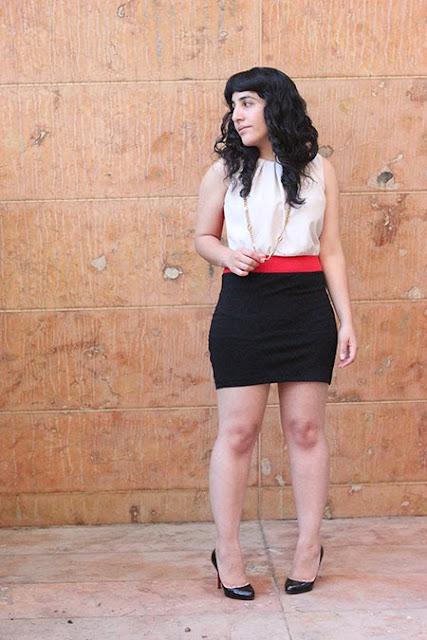 LE TOTE Color Block Dress