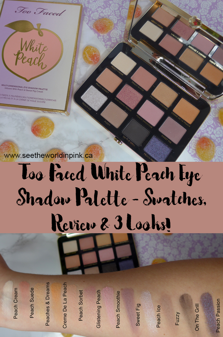 Too Faced White Peach Eye Shadow Palette - Swatches, 3 Looks, and Review!