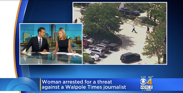 Woman Arrested For Threat Against Massachusetts Walpole Times Journalist