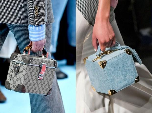 Fall-Winter 2018-2019 Women's Squared Handbags Fashion Trends