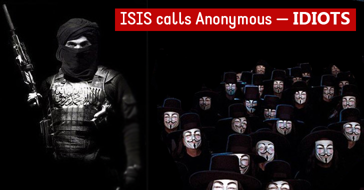 "ISIS Calls Anonymous ""IDIOTS"" and Issues 5 Lame Tips for its Members to Avoid Getting Hacked"