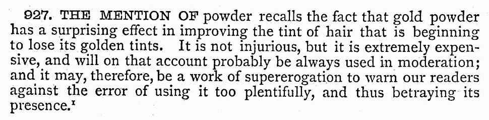 1879 gold hair powder