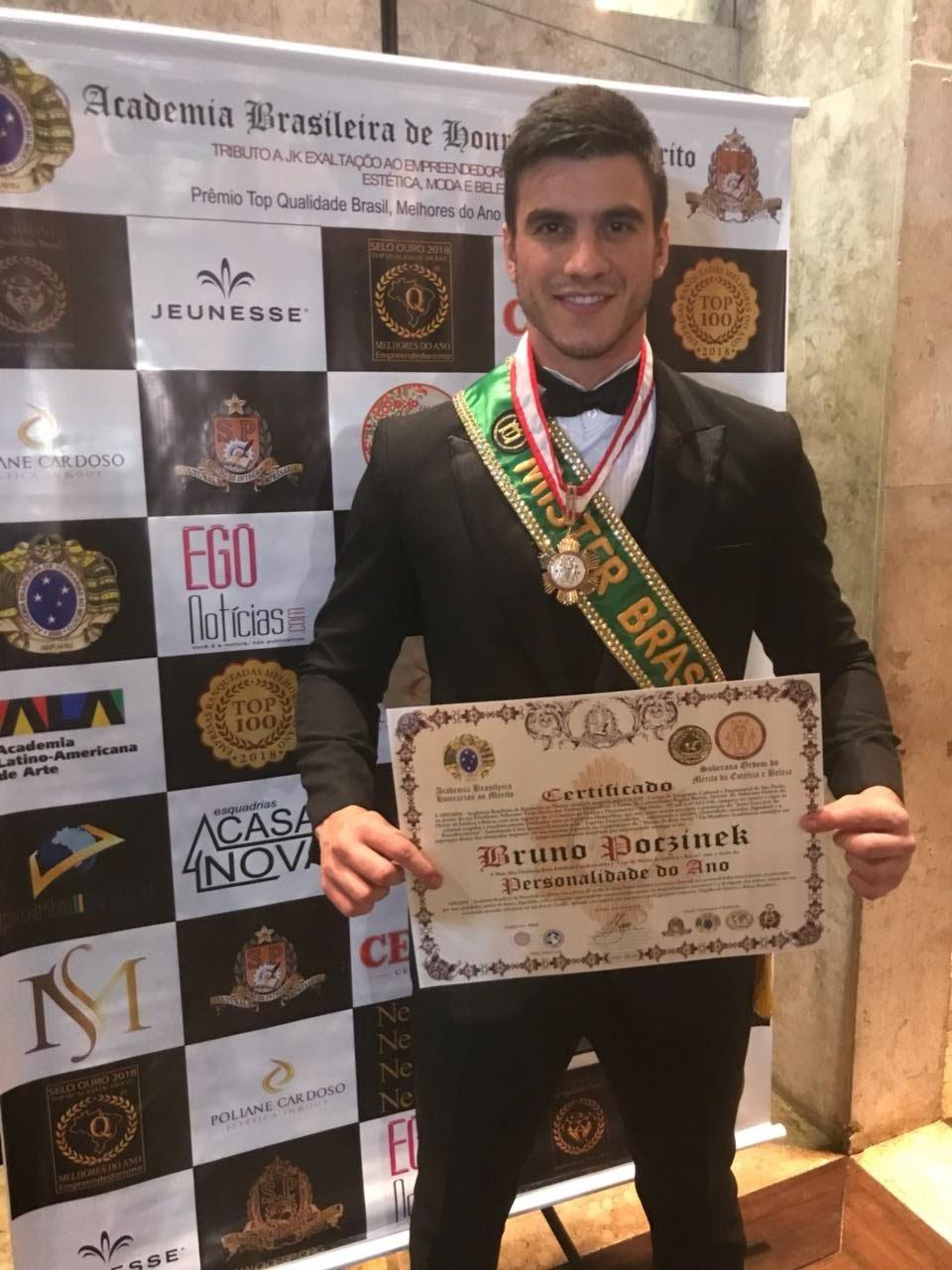 O Mister Brasil 2017 foi homenageado em São Paulo. Foto: Lucas Lima/Bruno Taveira