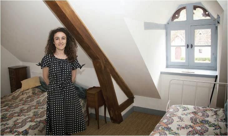 Une des chambres d'hôte dans les communs du château de Troussay