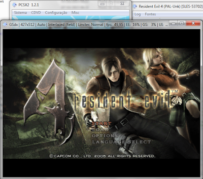 Emulaçao do Resident Evil 4 no PCSX2