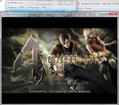 Emulaçao do Resident Evil 4 no PCSX2
