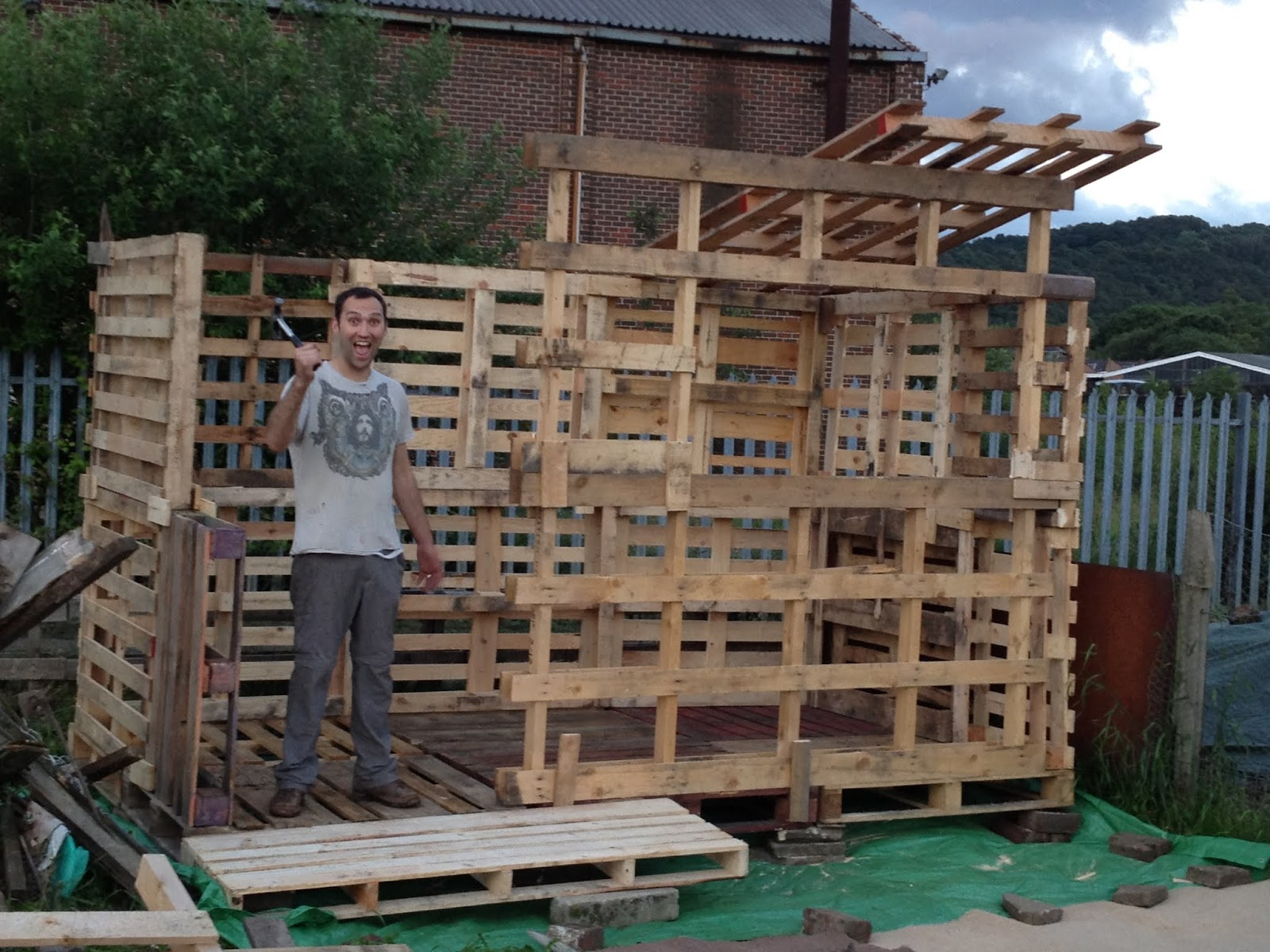 Building A Outdoor Bar From Pallets