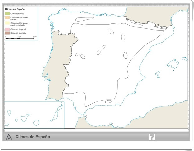 """Mapa interactivo climático de España de Primaria"" (Editorial Anaya)"