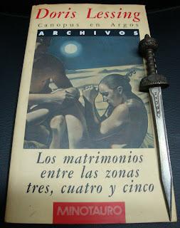 Portada del libro Los matrimonios entre las zonas tres, cuatro y cinco, de Doris Lessing