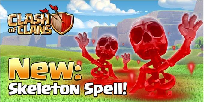 Skeleton spell, mengeluarkan tengkorak dari alam spell