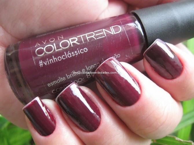 Esmalte Color Trend Avon Vinho Clássico
