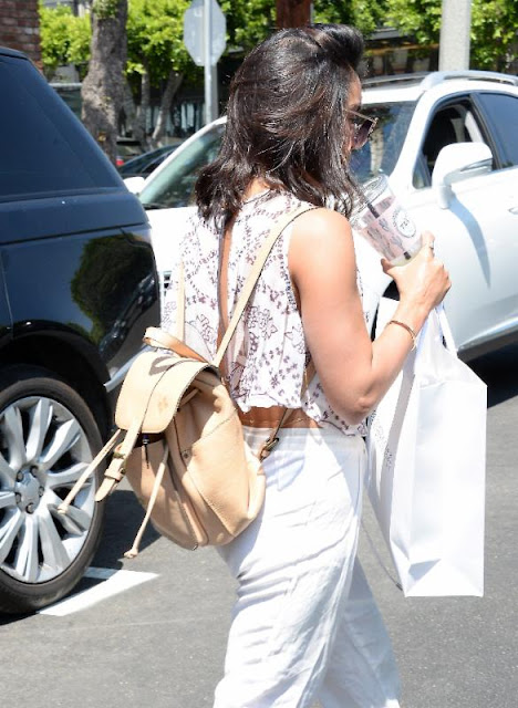 Vanessa Hudgens Carries Patricia Nash Knapsack Again