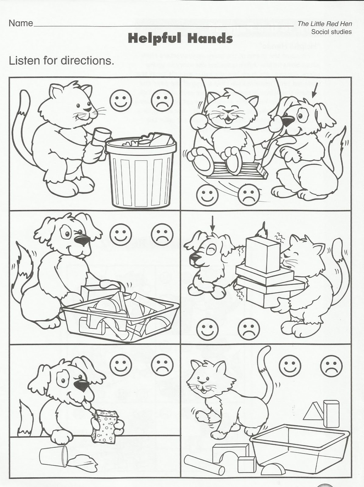 Preschool Coloring Printables About Manners Coloring Pages