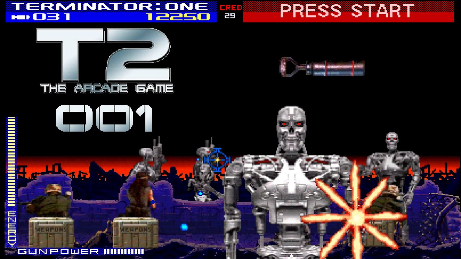corona jumper: terminator 2: the arcade game (various, 1991-1994)