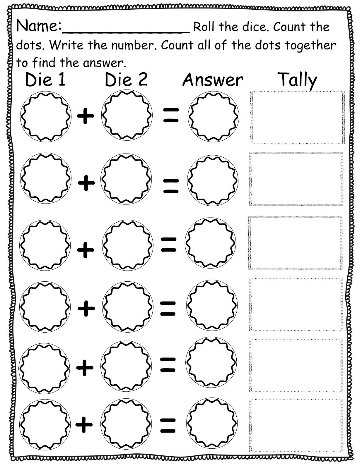 Pre K Homework Sheets