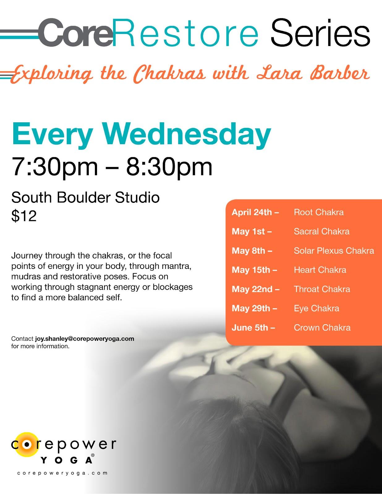 Lara's Touch: Seven Week Chakra Yin Yoga Series