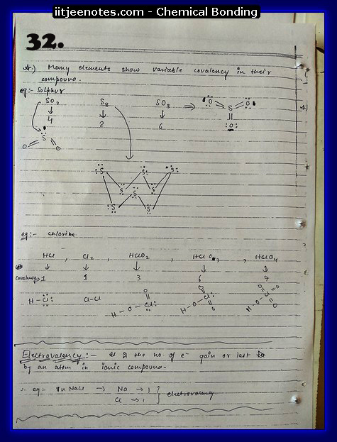 Chemical Bonding Notes IITJEE 8
