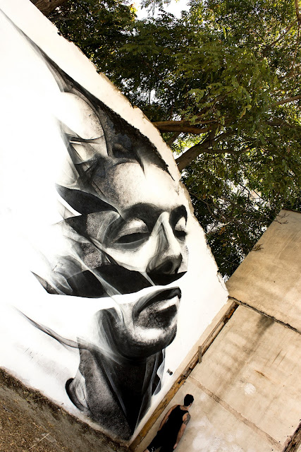 Street Art Collaboration By iNO and George Kavounis In Athens, Greece 3