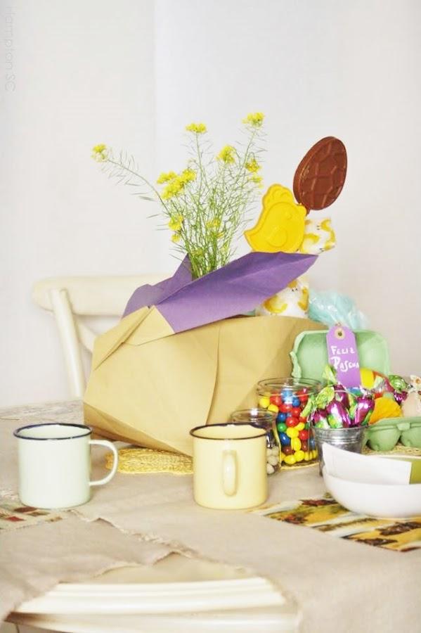 conejo de Pascua de origami