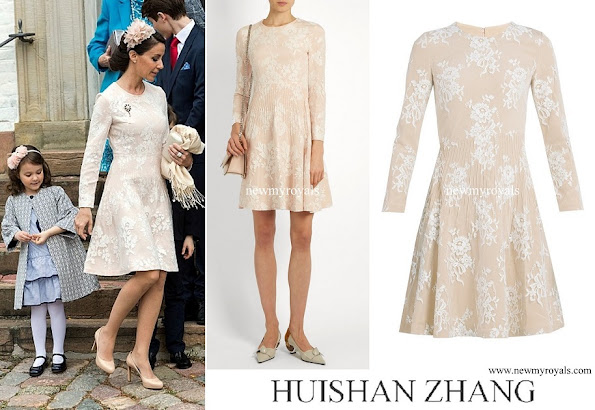 Princess Marie wore HUISHAN ZHANG Kiera cotton blend floral lace dress