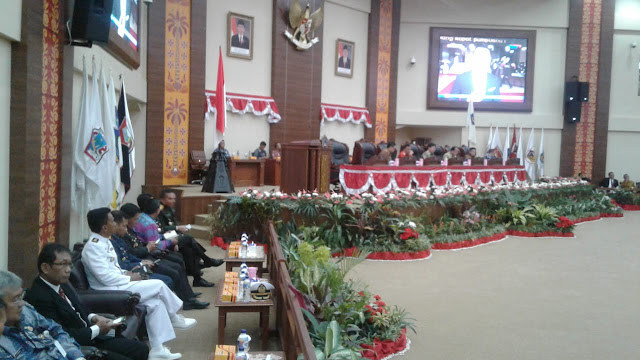 Sidang Paripurna Dewan Sulut dalam Rangka HUT RI 73 Tahun dan Mendengarkan Pidato Kenegaraan President Joko Widodo