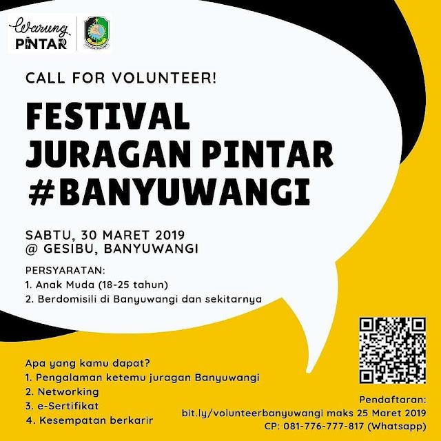 Call For Volunteer Festival Juragan Pintar Banyuwangi