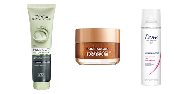 L'Oreal Charcoal Face Wash, L'Oreal Pure Sugar Scrub, Dove Dry Shampoo, Beauty Blogger, College Blogger, Lifestyle Blogger
