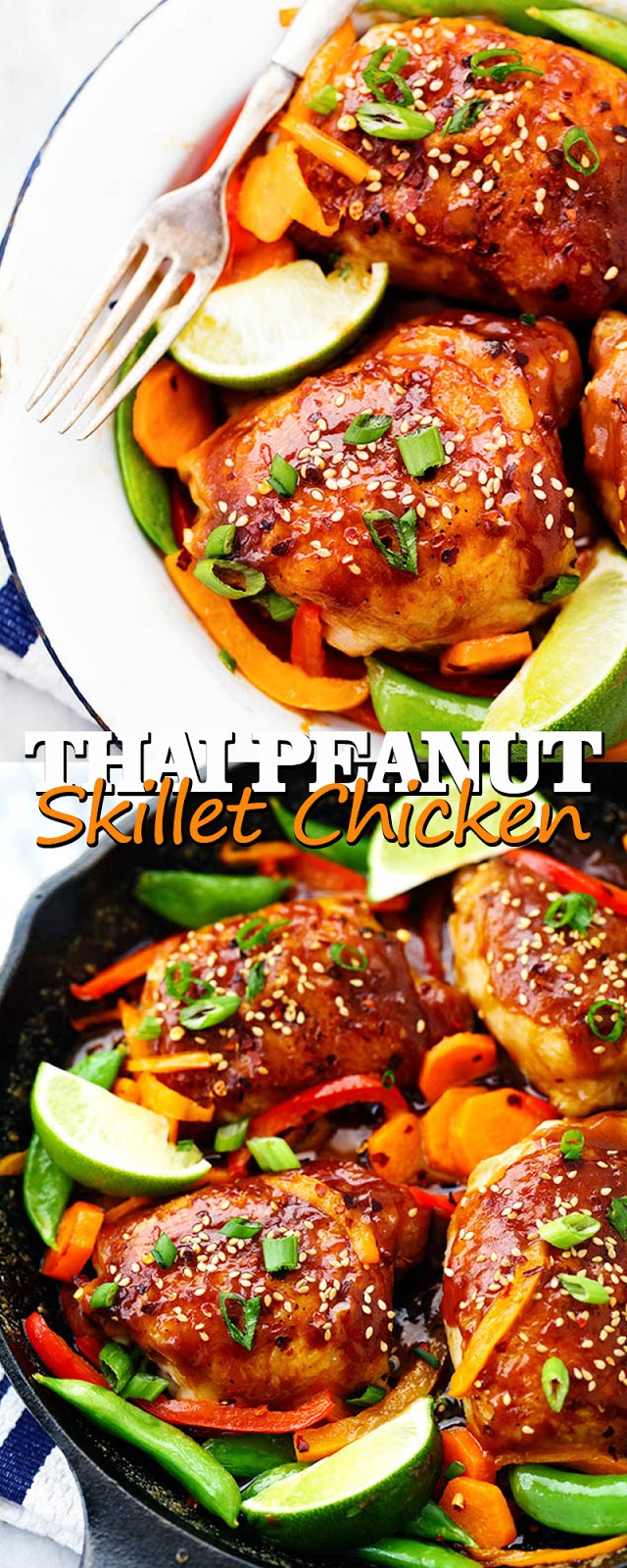 THAI PEANUT SKILLET CHICKEN
