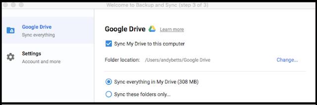 sinkronisasi folder google drive