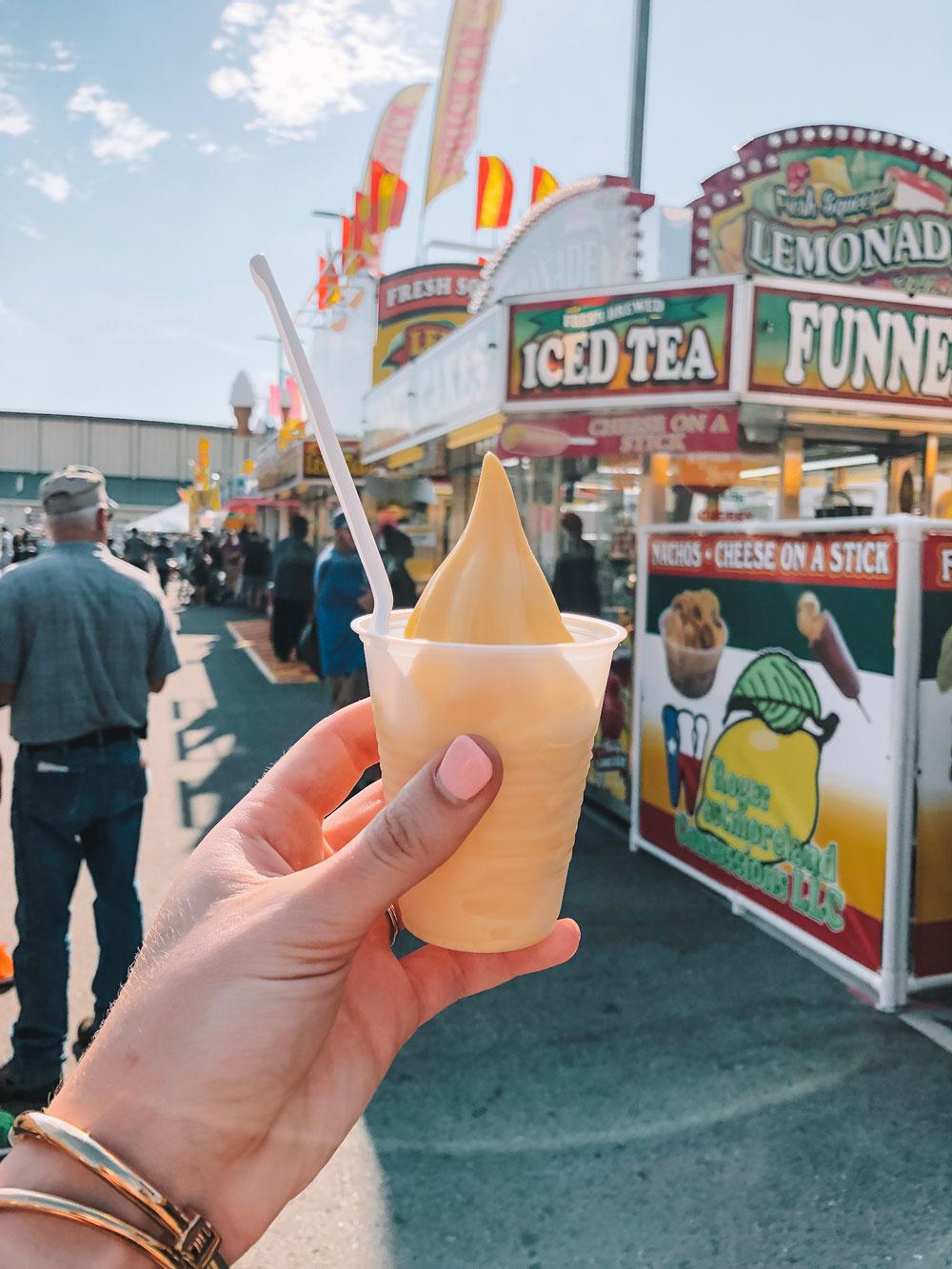 dole pineapple whip at ok state fair