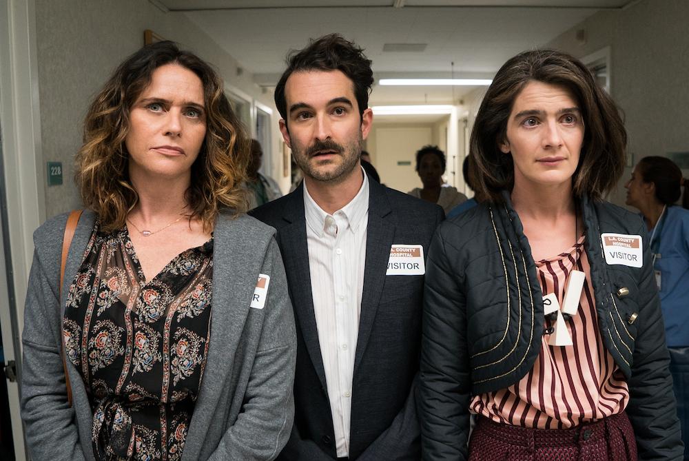 Los tres hermanos Pfefferman en un momento de la tercera temporada de Transparent