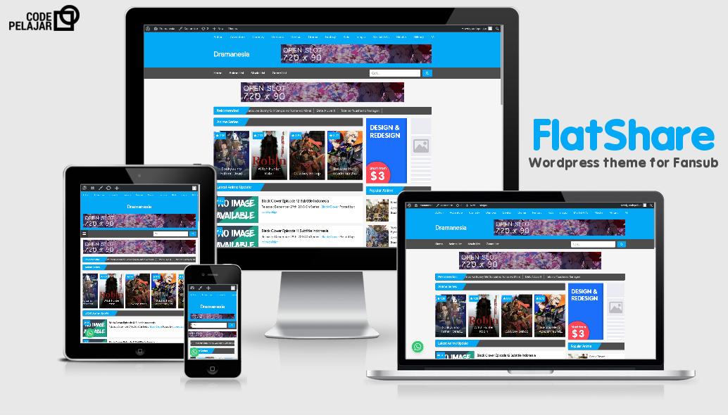Download Theme Wordpress Terbaru untuk Fansub dan Fanshare