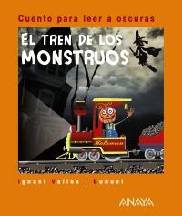 Libro infantil para halloween: el tren de los monstruos, para leer a oscuras