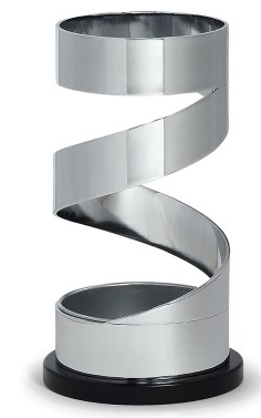 spiral-shaped umbrella stand