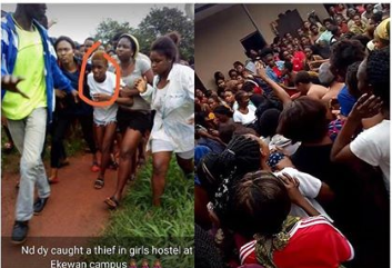 Novena university student caught stealing in Uniben