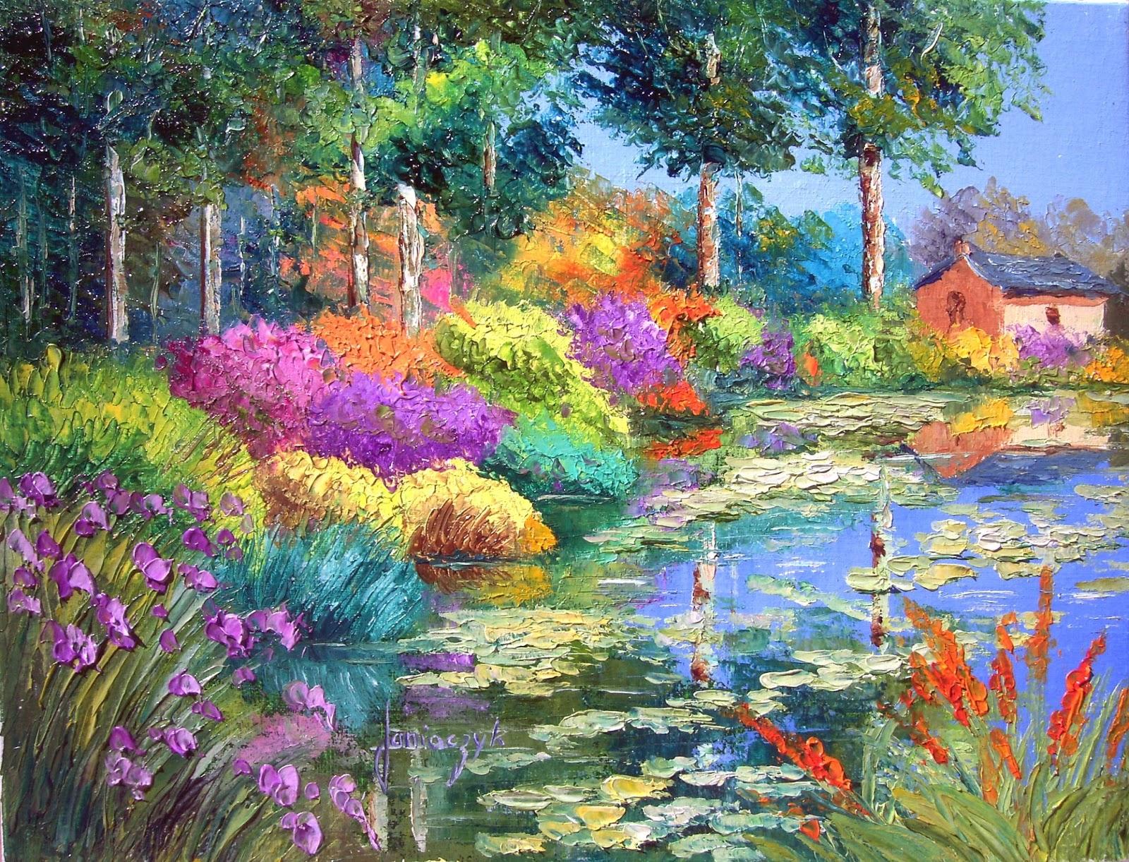 Flores da Lagoa - Cores alegres e vibrantes nas paisagens de Jean-Marc