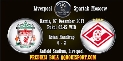 Prediksi Bola Liverpool vs Spartak Moscow Liga Champions 2017-2018