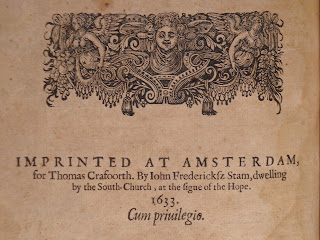 A decorated imprint (Amsterdam, 1633).