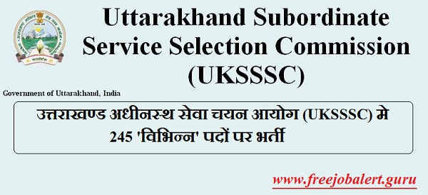 UKSSSC Admit Card Download
