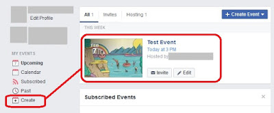 Create event on Facebook Events