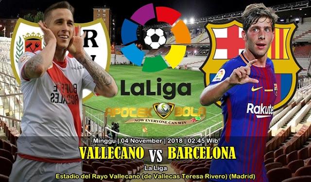 Prediksi Rayo Vallecano Vs Barcelona 04 November 2018