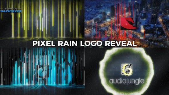 تحميل قالب افترافكت مجانى | Pixel Rain Logo Reveal - Free Download After Effects Templates