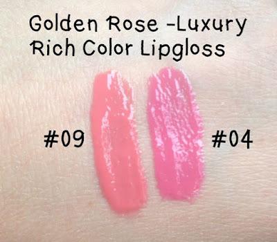 golden rose błyszczyk do ust swatche 04 09