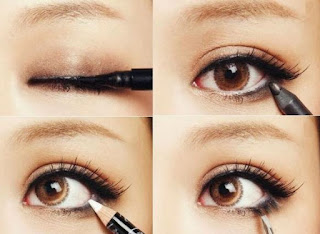 Foto Cara Memakai Eyeliner dan Maskara sesuai Bentuk Mata