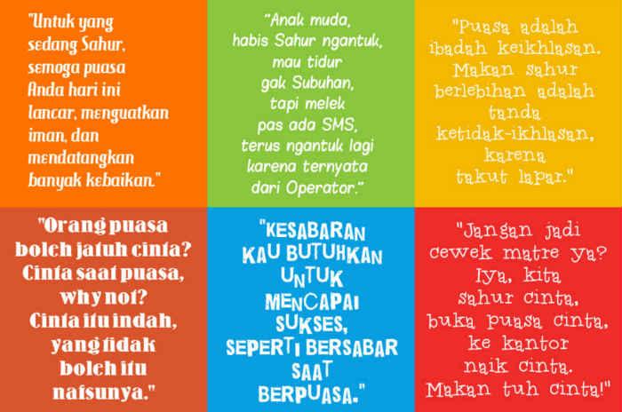 Gambar Sahur Kata Kata Bijak Mutiara Cinta DP BBM Bergerak Ramadhan