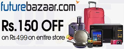 Enjoy Rs.150 Off on Min Purchase worth Rs.499 across Futurebazaar Online Store