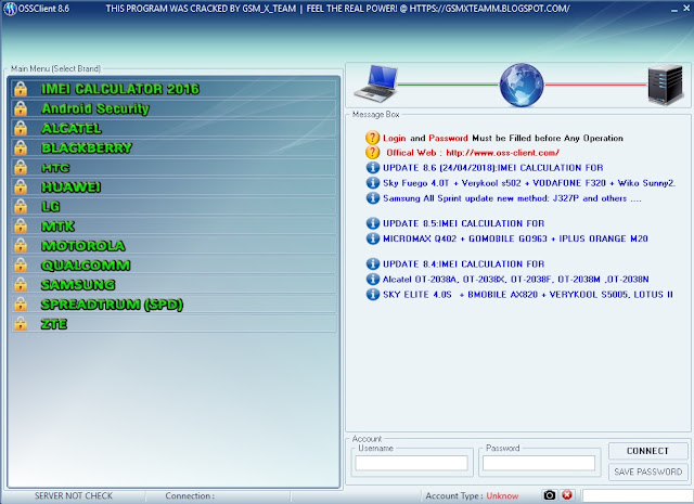 XTM OSS Client v8.6 Unlock Tool Latest Free Download