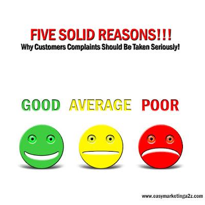 Customer Complaints Reasons