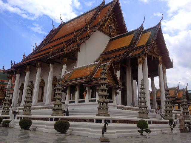 Chinese pagodas surrounding Wat Suthat Temple