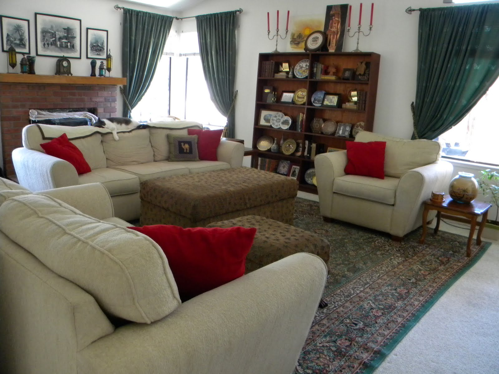 daze of grace: Our British Colonial Style Living Room